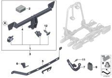 Rear transport system crossover F06 F12 F13